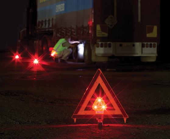 Eflare Flashing Led Triangle Light For Use With Reflective